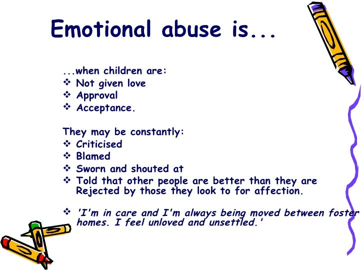 child abuse emotional abuse is