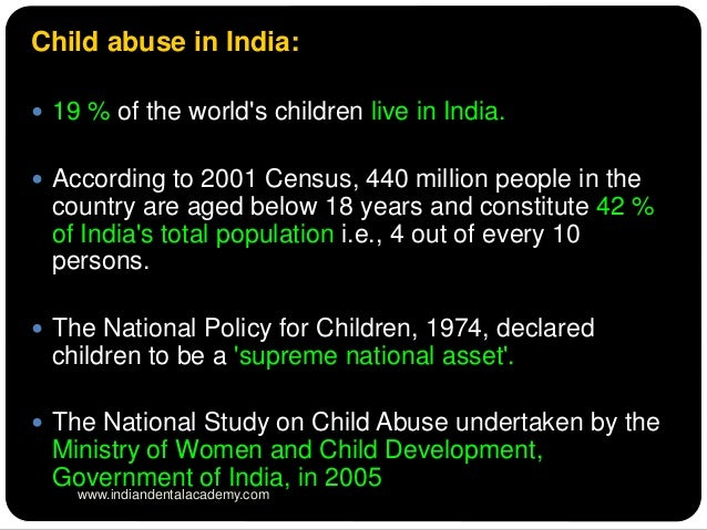 child physical or mental abuse reports for india