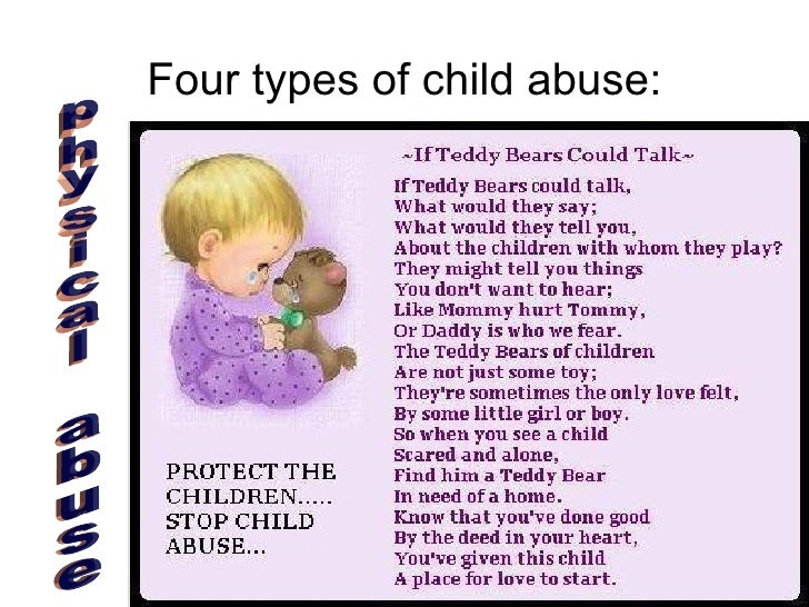 four different forms of child abuse In psychology today, there are four major recognized parenting styles: authoritative, neglectful, permissive, and authoritarian each one carries different.