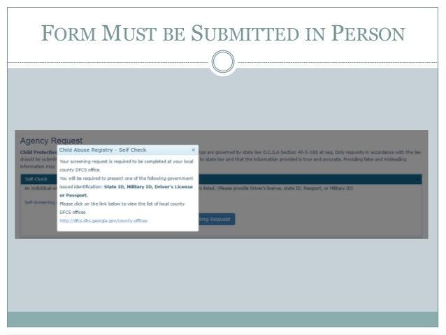 Georgia's New Child Abuse Registry