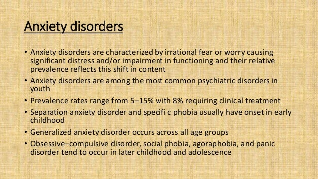 • Aetiological factors :Genetic vulnerability; temperament that exhibits 'behavioral inhibition' (timidity, shyness, and e...