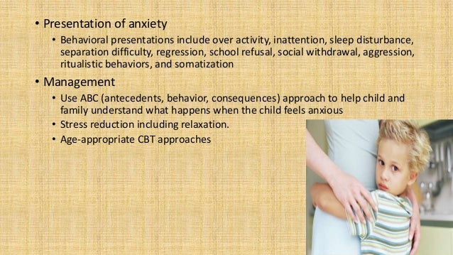 Separation Anxiety Disorder • Characterized by increased and inappropriate anxiety around separation from attachment figur...