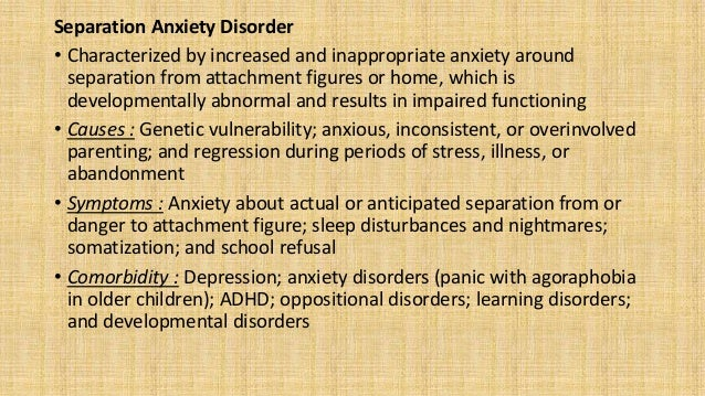 Generalized Anxiety Disorder • Characterized by developmentally inappropriate and excessive worry and anxiety on most days...