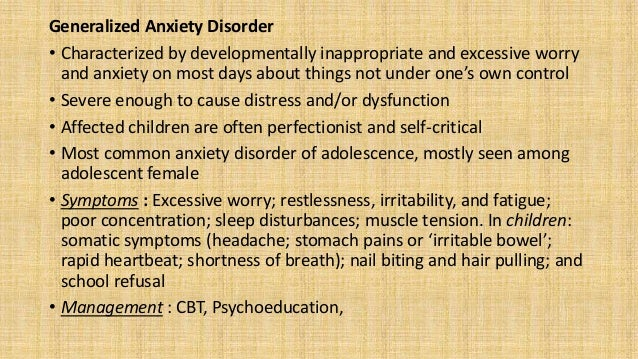 Panic Disorder • Recurrent, unexpected panic attacks are the hallmark of this disorder, together with a period during whic...