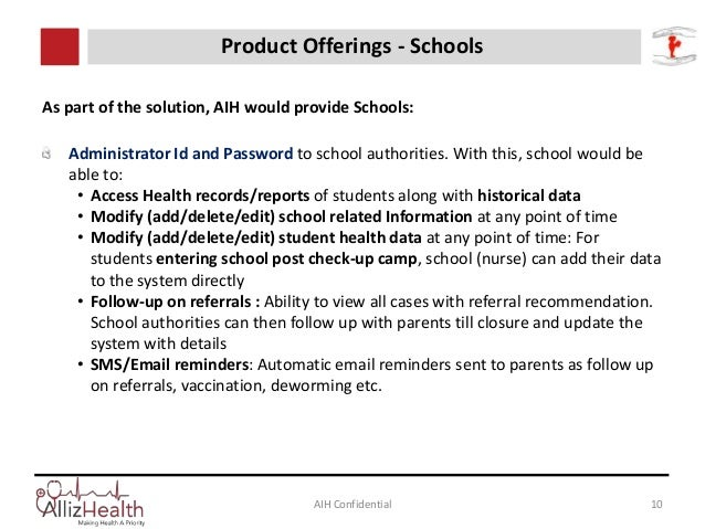 As part of the solution, AIH would provide Schools: Administrator Id and Password to school authorities. With this, school...