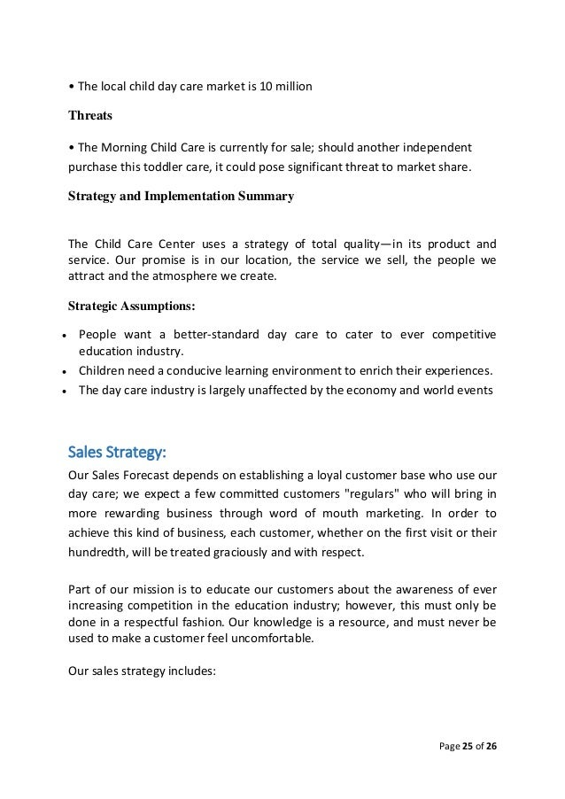 Child Care Center - Business Plan