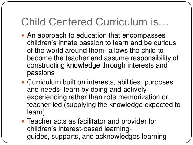 child centred approach