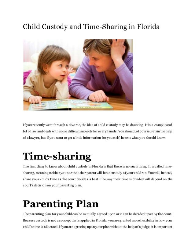 Child custody and time sharing in florida child custody and time sharing in florida if yourecently went through a divorce the to get solutioingenieria Images