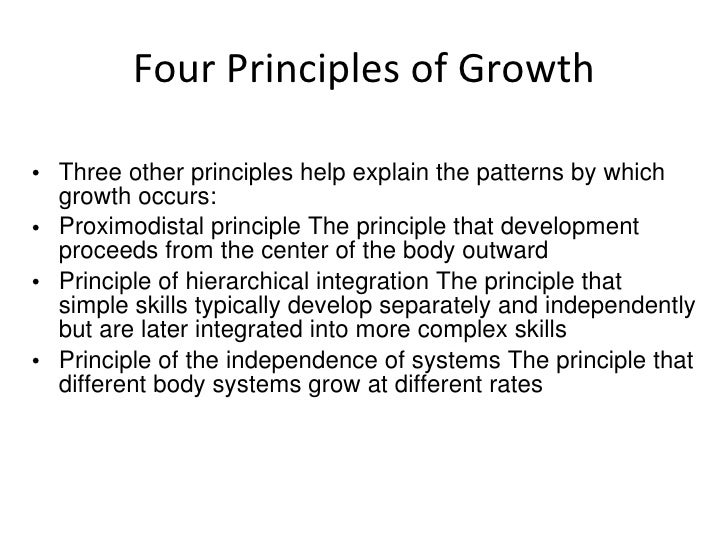 principles of growth