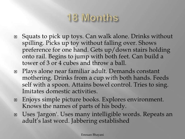 Black dress 18 months developmental milestones
