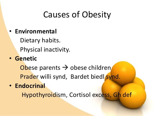 "causes of childhood obesity What causes childhood obesity according to the ""centers for disease control  and prevention"" (cdc), childhood obesity is the result of eating."