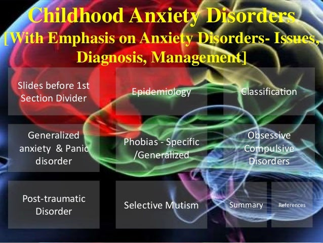 Epidemiology Childhood Anxiety Disorders [With Emphasis on Anxiety Disorders- Issues, Diagnosis, Management] Selective Mut...