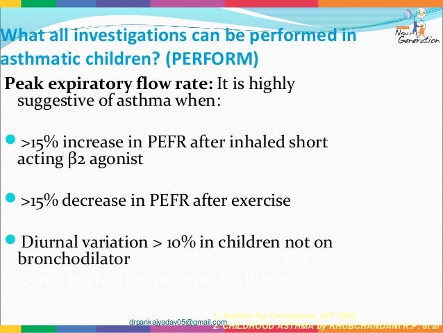 childhood asthma Persistent childhood asthma was linked to signs of copd before age 30 years children with a pattern of decreased lung growth or decreased lung function at baseline and males may be at.