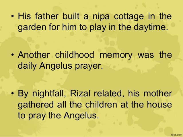 rizal childhood years in calamba His love for arts and literature also started sparks in his childhood  then he  went back to calamba to stay for a while with his family and attend their town  fiesta only to  although josé rizal, now eleven years old, had passed a good  entrance.