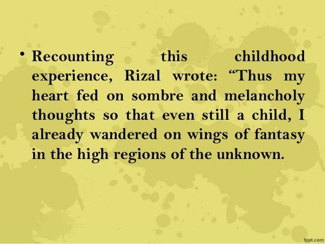 Rizal's Childhood Days