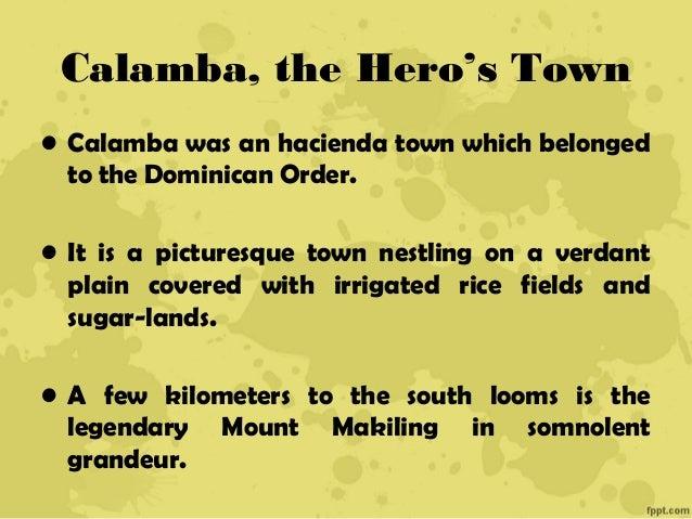 Childhood Years in Calamba Essay Sample