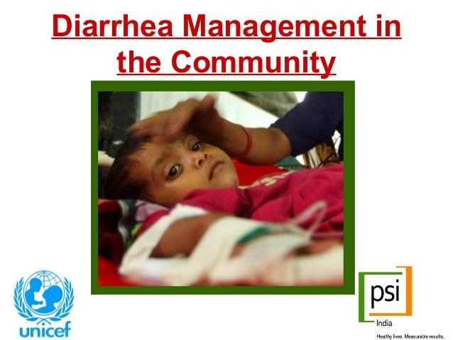 Diarrhea Management in the Community