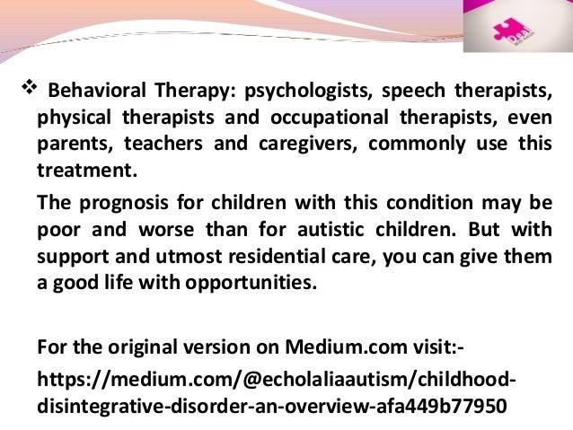 Childhood Disintegrative Disorder: An Overview