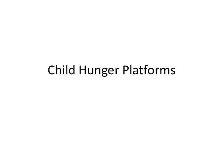 Child Hunger Platforms