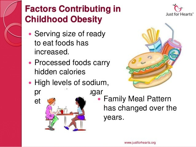 factors contributing to childhood obesity essay Introduction obesity is one of the important contributing factors to diseases such as cardiovascular diseases, type 2 diabetes, stroke, arthritis, depression and.