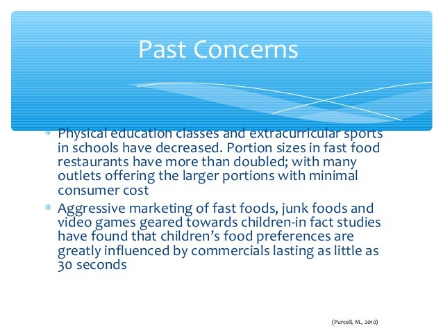 Consumer perception towards fast food and obesity