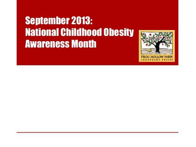 childhood obesity awareness month september 2013
