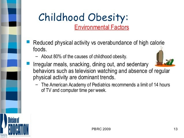 social influences on childhood obesity Media and childhood obesity children today spend as much as four and a half hours each day watching television and are influenced by the programming and advertising they see.