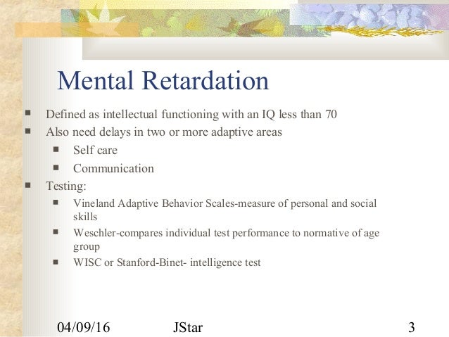 Childhood psychiatry disorders Slide 3