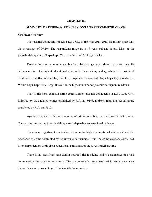 Juvenile delinquency essay