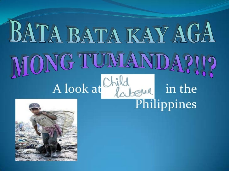 A look at         in the            Philippines