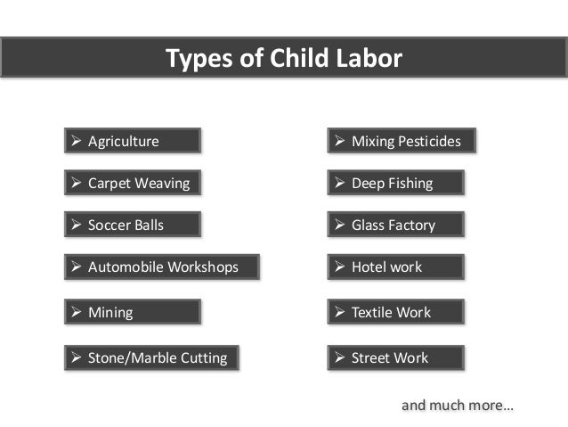 an introduction to different forms of child labor Unlike most editing & proofreading services, we edit for everything: grammar, spelling, punctuation, idea flow, sentence structure, & more get started now.