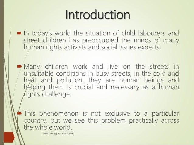 Child labor and street children Slide 2