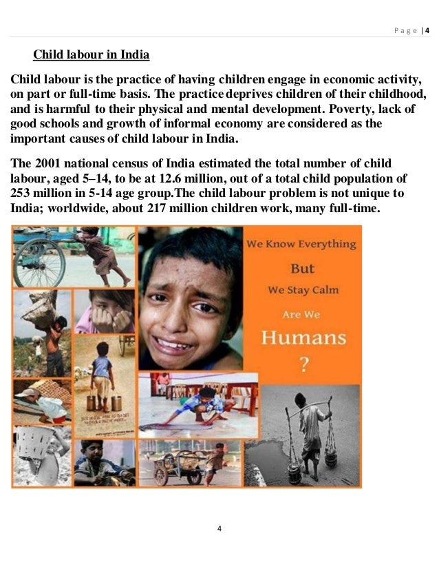 Case study report on child labour