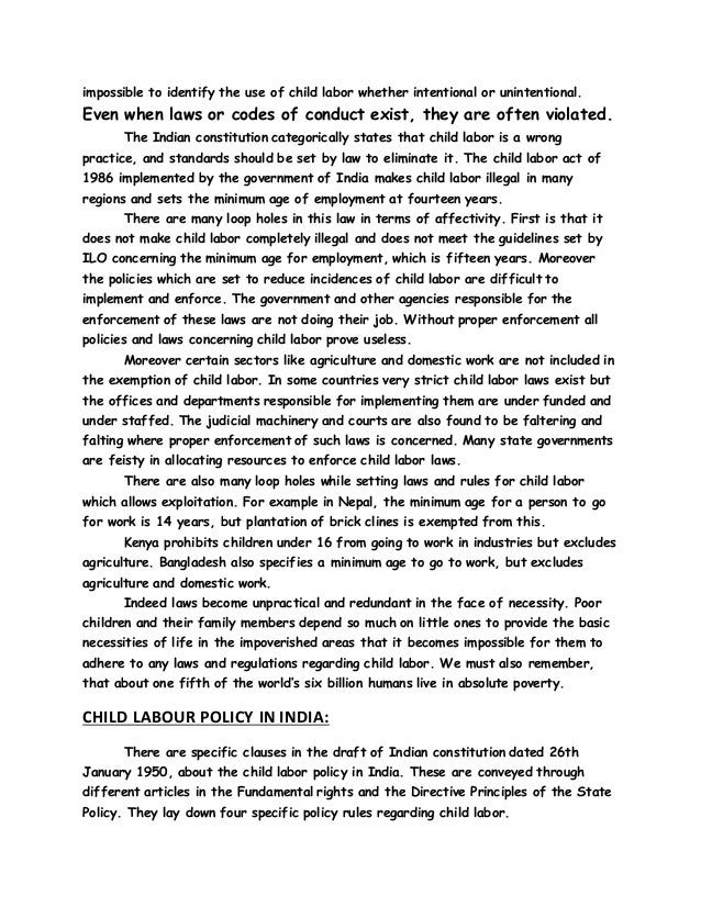 essay child labour pdf
