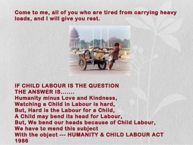 child labour act 1986 Natlex, the ilo's database featuring national laws on: labour, social security and related human rights.