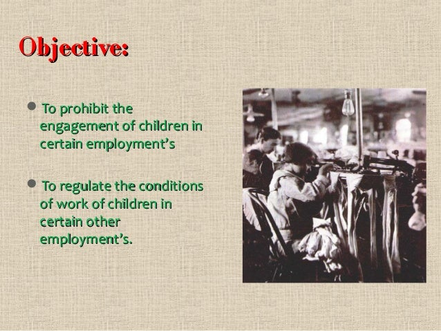 Child Labour (Prohibition and Regulation) Act, 1986