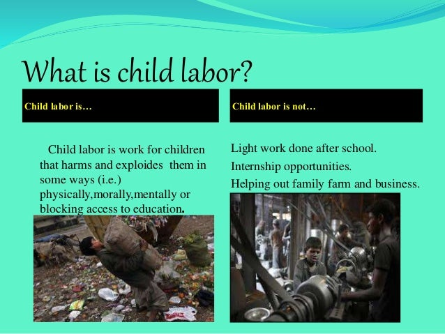 An introduction to the child labour in third world countries
