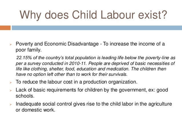 child labour essay 8 why does child labour