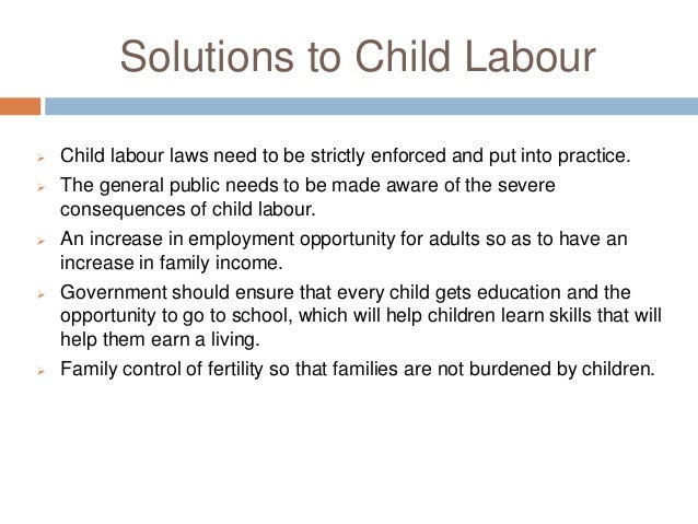 Eradication of child labour