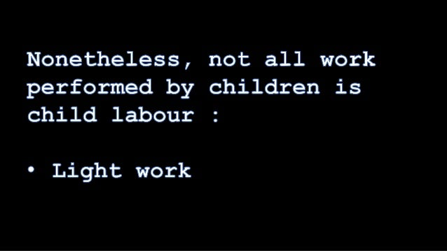 child labour final Alec m mark c john c christian t child labor is a big issue around the world we believe that it's one of those problems that need to come to an end as s.