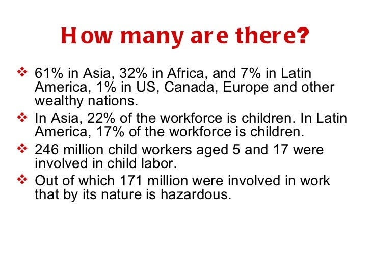 <ul><li>61% in Asia, 32% in Africa, and 7% in Latin America, 1% in US, Canada, Europe and other wealthy nations. </li></ul...