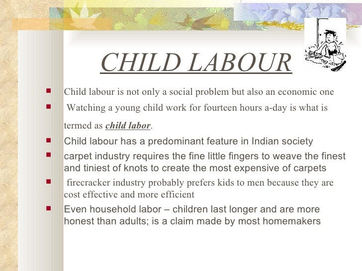 write an essay on child labour This essay will discuss the causes and effects of child labor during and after the industrial revolution let us write you a custom essay sample on causes and.