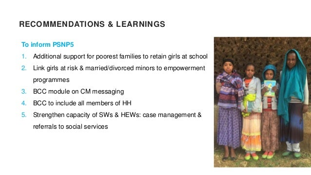 RECOMMENDATIONS & LEARNINGS To inform programming on CM: 1. Improve community awareness on CM laws 2. Promote dialogue & a...