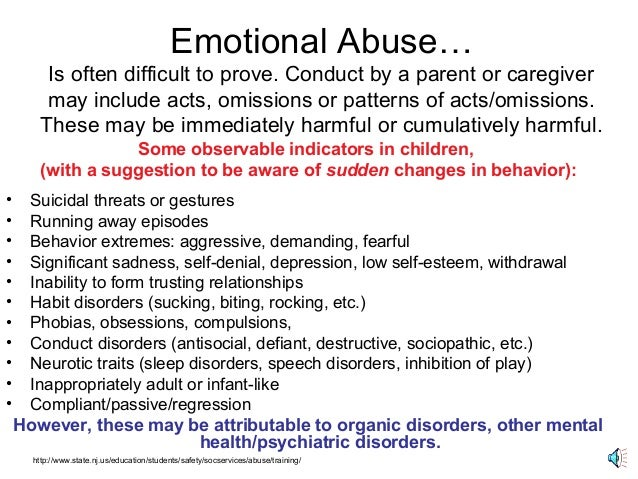 behavior patterns of emotional abuse Emotional abuse - subconcious patterns - understanding emotional abuse - emotional abuse is is any behavior.