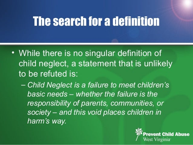 definitions of child abuse and neglect Provides state laws that define the conduct, acts, and omissions that constitute child abuse or neglect that must be reported to child protective agencies.