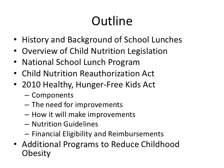the national school lunch program 2 essay The national school lunch program should continue in schools because it helps low-income families, the meal is healthy, and the school benefits from the funds the national school lunch program helps low-income families.