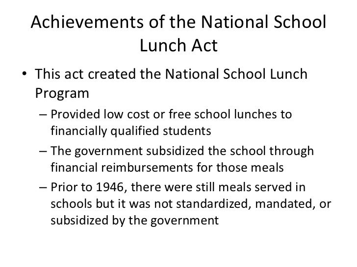 essays national school lunch program United states department of agriculture wwwersusdagov a report from the economic research service abstract the national school lunch program (nslp) is the nation.
