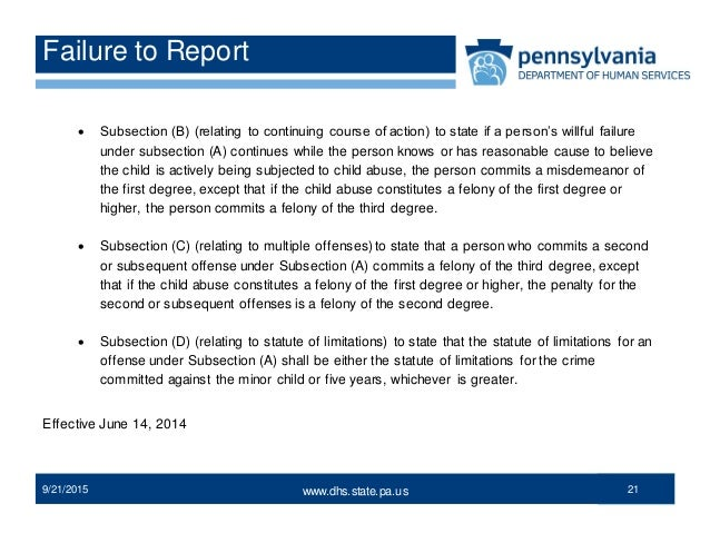 Laws on dating minors in pa