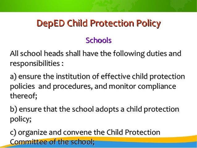 regional office 42 deped child protection policydeped child protection policy schoolsschools all school