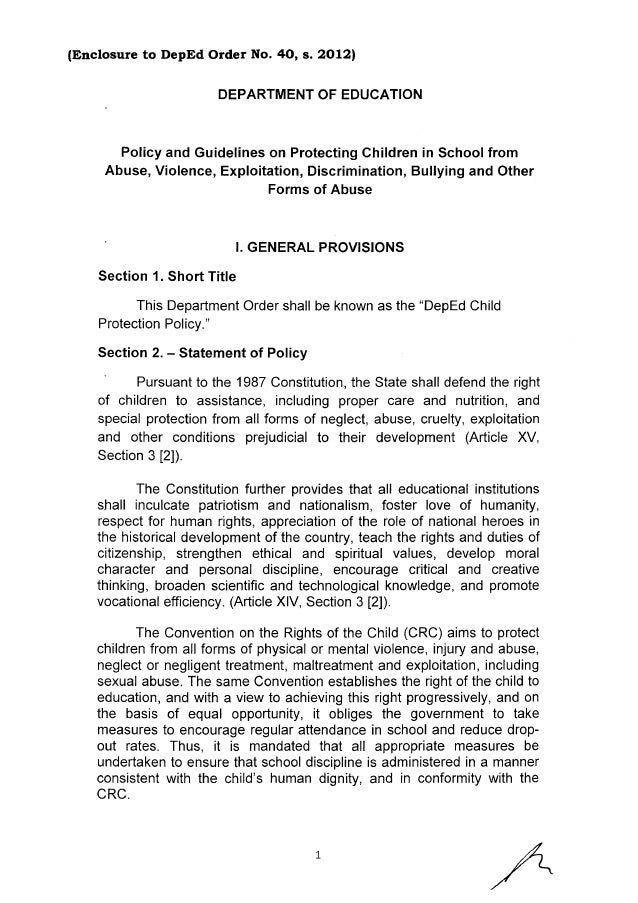 Child Protection Policy Slide 2